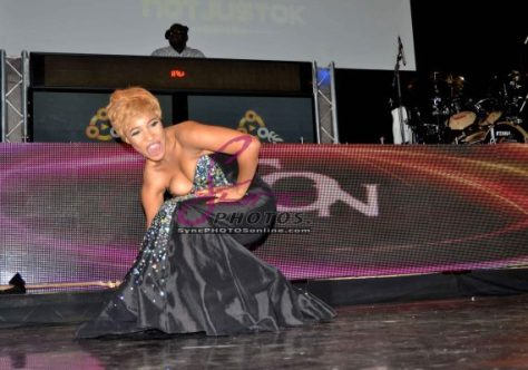 Tonto Dike, Nollywood actress turned musician fell on stage at Iyanya London Kukere Concert