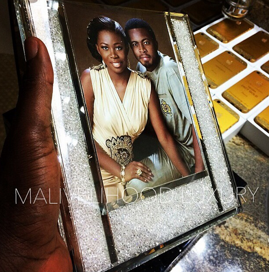 Guests at GEJ's daughter's wedding received customized iPhones