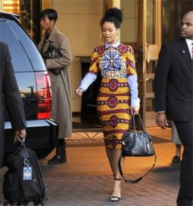 rihanna-african-print-dress